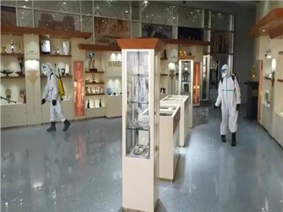 بالتعقيم البيولوجي.. تطهير متحف الحضارة لاستقبال زوار العيد