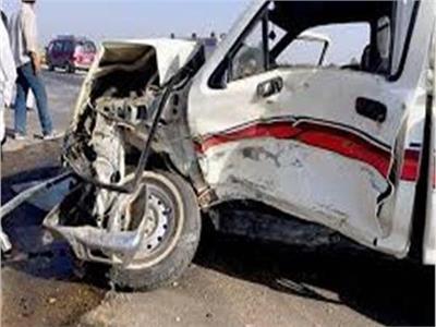 مصرع وإصابة 8 أشخاص في حادث مروري فيبني سويف