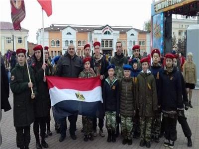 الجالية المصرية في موسكو تحتفل مع الشرطة الروسية بعيد النصر