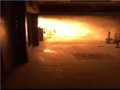 حريق هائل يلتهم كافية بالشرقية