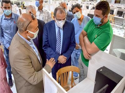 افتتاح مركز للاختبارات الإلكترونية بطب بني سويف