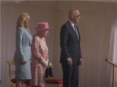 مراسم استقبال الملكة إليزابيث للرئيس الأمريكي جو بايدن في قصر «ويندزور»