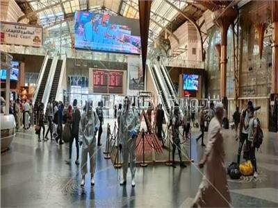 السكة الحديد تواصل الإجراءات الإحترازية بالقطارات والمحطات لمواجهة كورونا