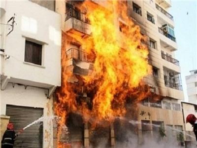 إصابة شقيقين في حريق كبير بسوهاج