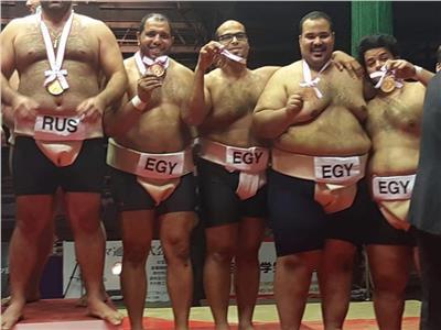 حكايات  تحيا مصر بـ«الياباني».. إبراهيم «يا جبل السومو» ما يهزك ريح  صور