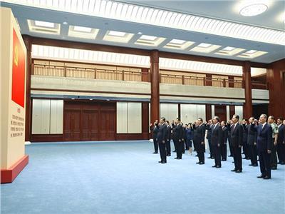 افتتاح معرض تاريخ الحزب الشيوعي الصيني