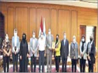 تعاون مثـمر بين جـامعـة گفر الشـيخ والقـومى للمـرأة