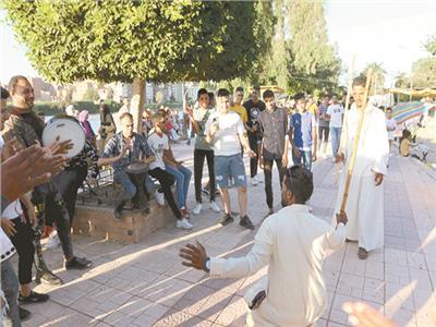 أهلاً بالعيد| «شجرة الدر» تستقبل الآلاف بالمنصورة