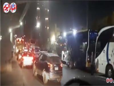 فيديو| تكدس مروري بميدان عبد المنعم رياض بسبب أتوبيسات الرحلات