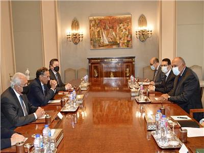 شكري يستقبل رئيس مجلس الأعمال المصري الأمريكي