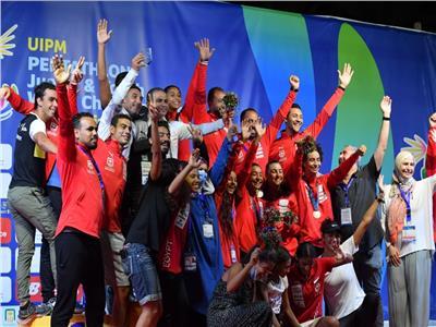 مصر تحصد فضية الفرق وبرونزية الفردي تحت 19 سنه ببطولة العالم للخماسي الحديث