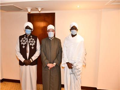 وزير الأوقاف يستقبل نظيره السوداني و«الأعلى للشئون الإسلامية» بجنوب السودان