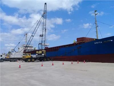 تصدير 3850 طن أسمنت أبيض للبنان عبر ميناء العريش