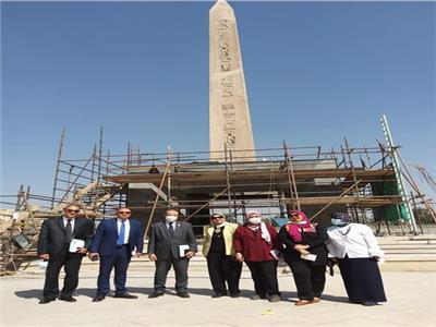 وفد وزارة التخطيط وبنك الاستثمار القومي يزور المتحف المصري الكبير