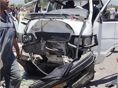 إصابة 9 أشخاص في حادثين منفصلين ببني سويف