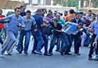 فض تظاهرة لحملة الماجستير أمام «الوزراء»  صور