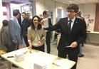رئيس إقليم كتالونيا يدلى بصوته في الاستفتاء