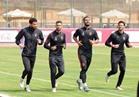 تدريبات قوية لحراس مرمى الأهلي في ملعب برج العرب