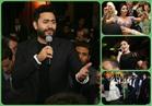 صور| تامر حسني والليثي وبوسي وآلا كوشنير يشعلون زفاف «أحمد ودينا»