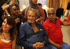 صور  عائلة العدل والفيشاوي يشاهدون مبارة مصر والكونغو