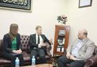 مستشار المفتي يستقبل سفير مكافحة الإرهاب بالخارجية السويدية