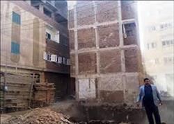 إخلاء عقارين إثر حدوث هبوط ارضي  في إمبابة