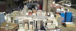 صور| «عزبة أبو حشيش».. هنا تجارة الخردة والمسروقات