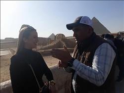 ملكة جمال اليونان: حلمي تحقق بزيارة الأهرامات