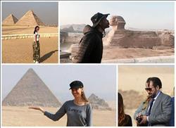 ويل سميث ونيكولاس كيدج وكورتني كارديشيان.. نجوم زاروا مصر في 2017