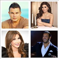 24 مطربا يستقبلون 2018 بحفلاتهم في مصر ولبنان ودبي