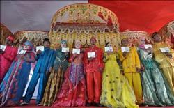 حفل زواج جماعي في أندونسيا احتفالًا برأس السنة