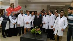المحرصاوي والهدهد وواصل يفتتحون تجديدات مركز القلب بجامعة الأزهر