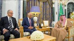 الملك سلمان يستقبل وفد مجلس النواب برئاسة د. عبد العال