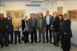 نقيب التشكيليين يفتتح معرض الفنان السعودي «محمد المهدي»