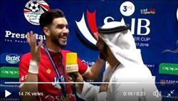فيديو| أزارو يرقص على «العب يالا» احتفالا بالسوبر
