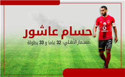 إنفو جراف| حسام عاشور «مسمار الأهلي»..32 عامًا و33 بطولة