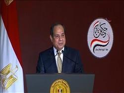 السيسي: البطل الحقيقى في الحفاظ على الدولة المصرية هم المصريون