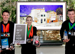 تلفزيون إل جي OLED يحصدجوائز معرض CES 2018