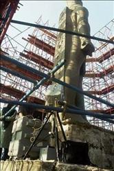 صور| ننشر برنامج نقل تمثال «رمسيس الثاني» إلى البهو العظيم