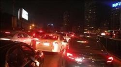 كثافات مرورية أعلى كوبري أكتوبر بسبب عطل سيارة