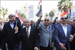 مسيرة لتأييد الرئيس السيسي بالإسكندرية