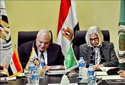 الوطنية للانتخابات توقع بروتوكول مع الجامعة العربية