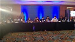 لميس الحديدي تقدم برنامج «هنا الشباب» علي شاشة «cbc»
