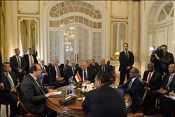 صور| بدء الاجتماع الرباعي لوزيري خارجية ورئيسي مخابرات مصر والسودان