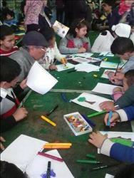 الأطفال يودعون مخيماتهم في معرض الكتاب
