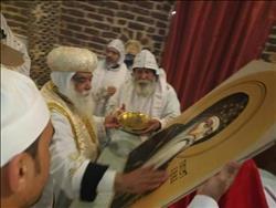 تدشين حامل أيقونات كنيسة الأنبا انطونيوس بدير الشايب