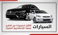 إنفوجراف| السيارات الأكثر استيرادًا عبر منفذ الإسكندرية الجمرك