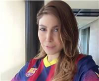 الفنانة يارا تعبر عن غضبها من تشكيلة برشلونة أمام إيبار