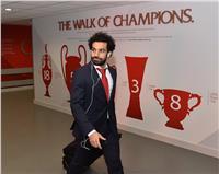 محمد صلاح يصل «آنفيلد» استعدادا لمباراة ليفربول ووست هام
