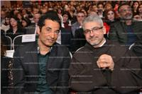 صور| تكريم عمرو سعد ولبلبة بختام المهرجان الكاثوليكي